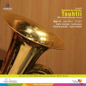 Quinteto de metales Teuhtli · Cartel-01